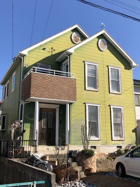 愛知県豊橋市某所 住宅塗装 シーリング処理 シーリング塗装 屋根洗浄 屋根塗装 玄関土間養生